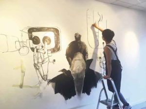 Artist Cai Zhang at work at 198 last year
