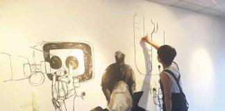 Artist Can Zhang at work at 198 last year