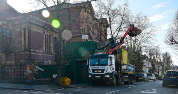 Digging out the basement of the Carnegie library