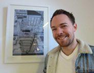 Artist Nick Seymour at Brockwell Blend Brixton