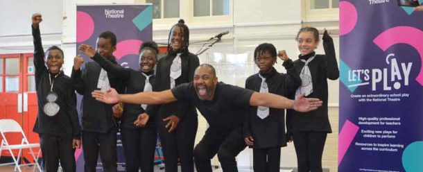 Sir Lenny shows aspiring Hill Mead actors how it's done