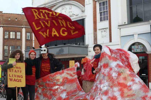 Women campaigners outside the Ritzy. P{picture: David Wilcock
