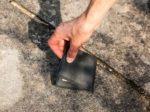 Wallet on ground