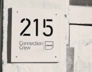 215 and Canvas door sign