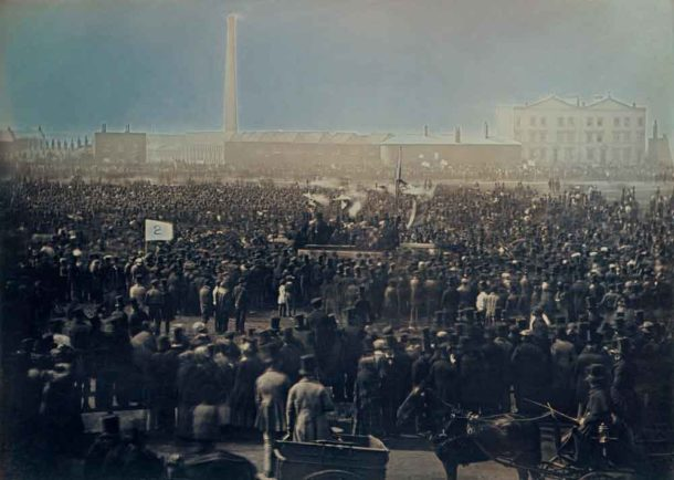 William Edward Kilburn took this Daguerreotype (an early kind of photograph) of the protest. Prince Albert, who bought the picture, spoke at a Chartist meeting about the sympathy and concern the royal family felt for Britain's working classes – after the possibility of revolutionary change had disappeared