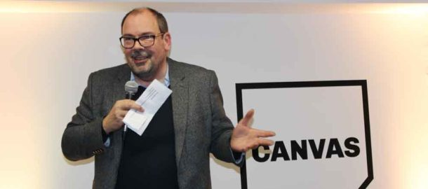 John Montague, managing director of group operations at The Big Issue, at the Canvas Co-Working opening