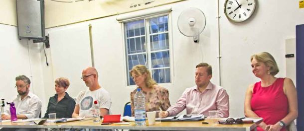 Candidates at hustings organised by the Lambeth People's Audit