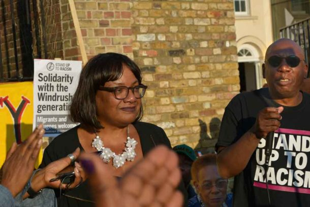 Diane Abbott's speech was greeted with applause