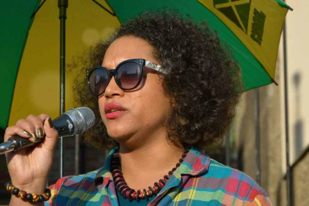 Bristol councillor Cleo Lake said the Windrush generation scandal was 'just the tip of the iceberg' and called for justice and reparations