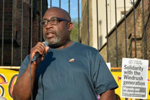 Victoria Line train driver Mick Brim brought solidarity from the transport trade union RMT