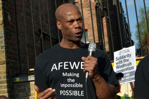 Steadman Scott spoke of how the Afewee organisation he founded helps to create role models for young people