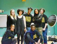 At the Advocacy Academy (top to bottom, left to right): Amelia Viney, Ayeisha Thomas-Smith, Shiden Tekle, Zhanè Salmone, Belmiro Matos da Costa, Liv Francis-Cornibert, Kofi Asante