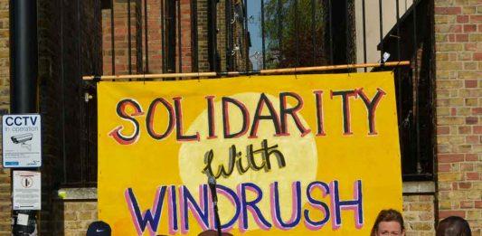 Windrush solidarity banner