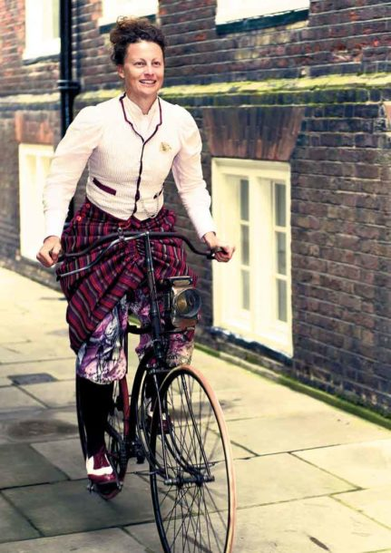 Dr Kat Jungnickel wearing a modern-day version of Alice Bygrave's skirt Picture: Charlotte Barnes