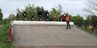 BMX start line-up in Brockwell Park