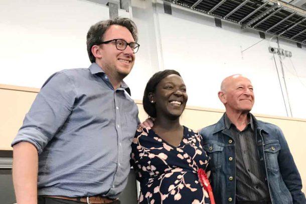 Brixton Hill winners (l-r) Martin Tiedemann (Lab), Maria Kay (Lab), Adrian Garden (Lab)