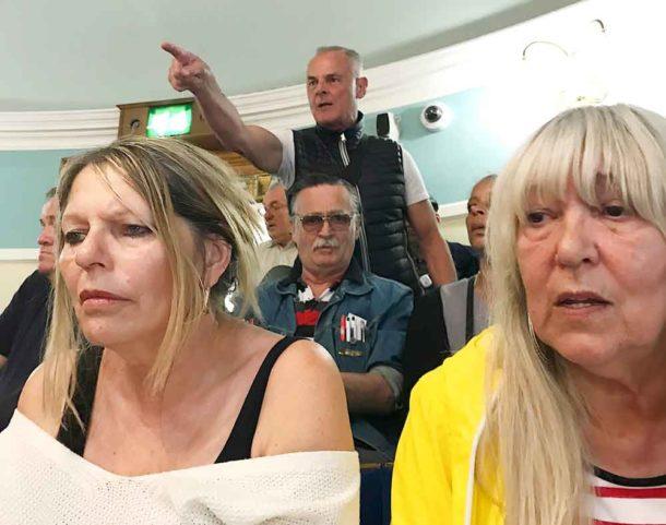 Shirley Oaks Survivors Association members in the public gallery