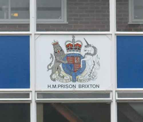 HMP Brixton sign
