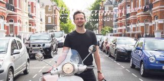 RIDEto fonder james Beddows with his Vespa