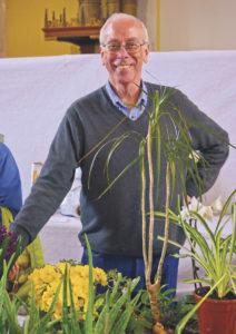 Carved vegetable competition organiser Bob Tydeman