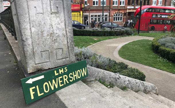 Lambeth Horticultural Society flower show sign
