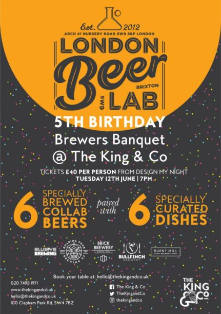 London Beer Lab 5th Birthday Brewers Banquet