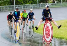 Penny-farthing riders