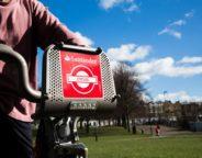 Santander cycle Brockwell Park