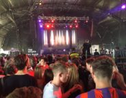 Already Busy: The Barn stage during Daphni's 4.15pm performance