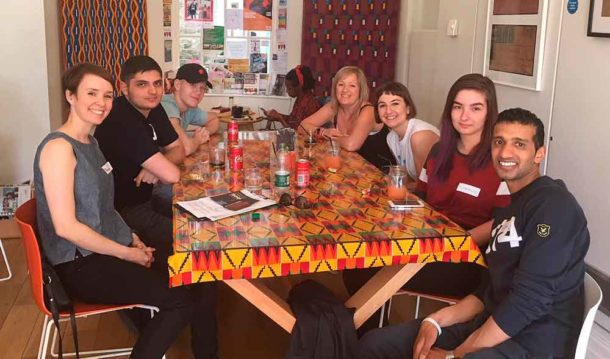 Youth group at the Black Cultural Archives café