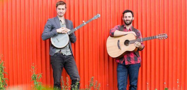 Folk duo Jimmy Aldridge and Sid Goldsmith. Image: Emily Fairweather