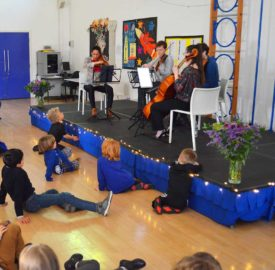 Jubilee Primary listen to the music