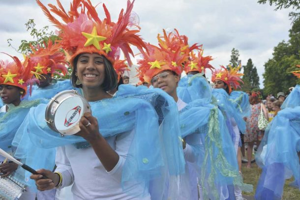 At last year's show: Samba from União da Mocidade (Union of the Youth) – a music and dance project for 12-19 year olds