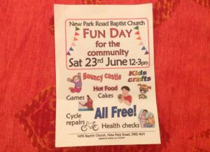 Community fun day @ New Park Road Baptist Church @ New Park Road Baptist Church | England | United Kingdom