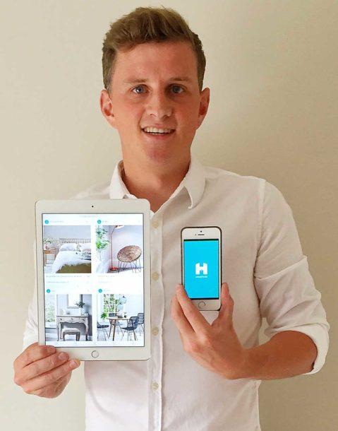 Nick Morris showing his app Housetagz