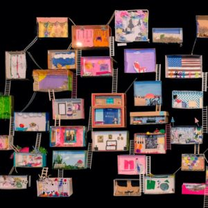 Dolls' house in a shoe box