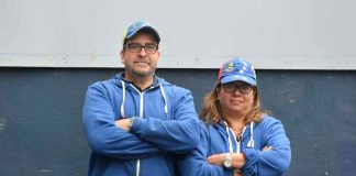 Carmelo Diotaiuti and his partner Glenda outside Brixton Village where their stall stood