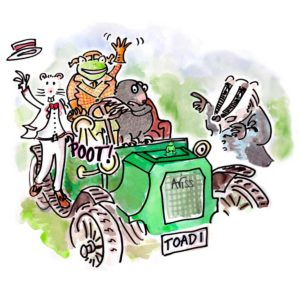 Wind in the Willows illustration for Sixteenfeet Productions
