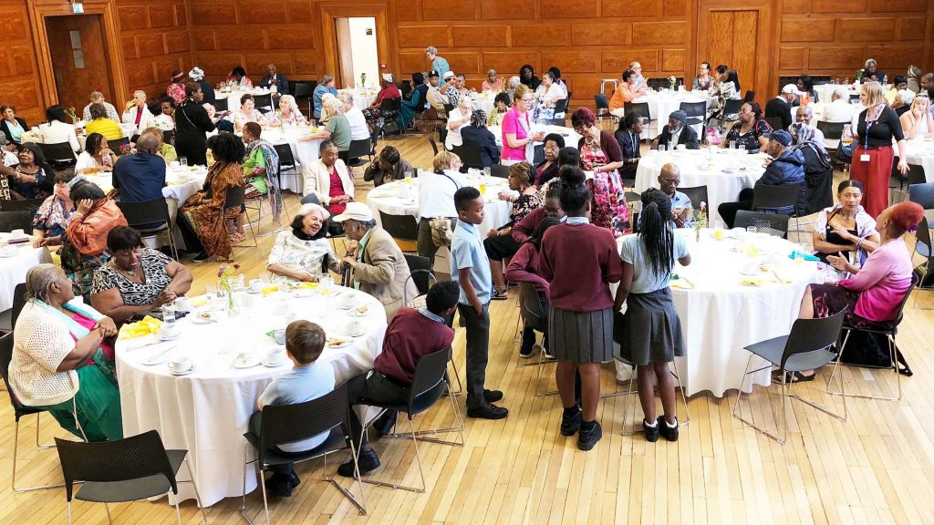 Members of the Windrush generation a a special celebration tea party in Lambeth town hall in 2018