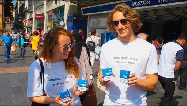 Adeline DeChaud and Phil Le Brun outside Brixton Tube