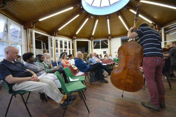 BCO play in Cressingham Gardens rotunda