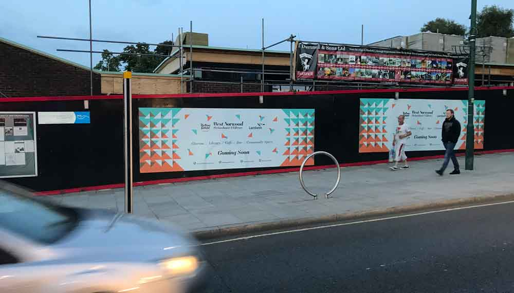 The West Norwood Picturehouse site earlier this year