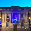 Lambeth Town Hall lit up in blue for NHS 70 celebrations