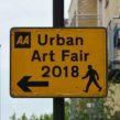 Urban Art Fair sign