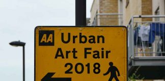 Urban Art Fair sign