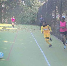 Girls football match