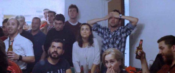 Portugal fans watch their team