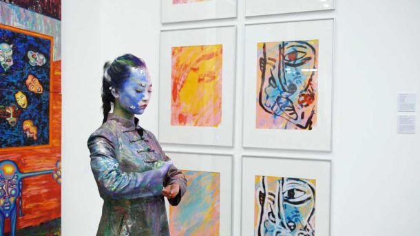 Artist Reggy-Liu at Studio 73 art gallery