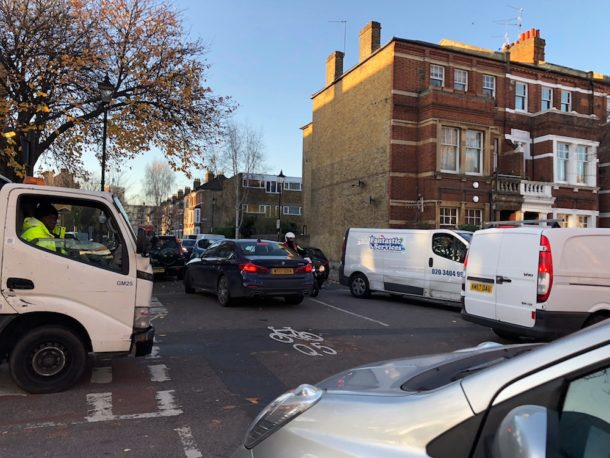Quietway traffic.
