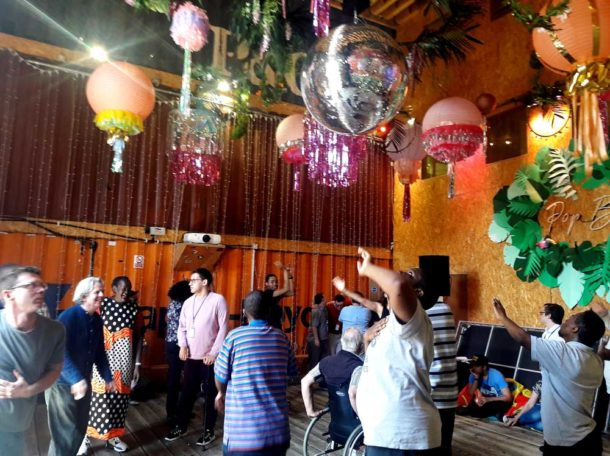 Let's Dance session in Pop Brixton's Pop Box